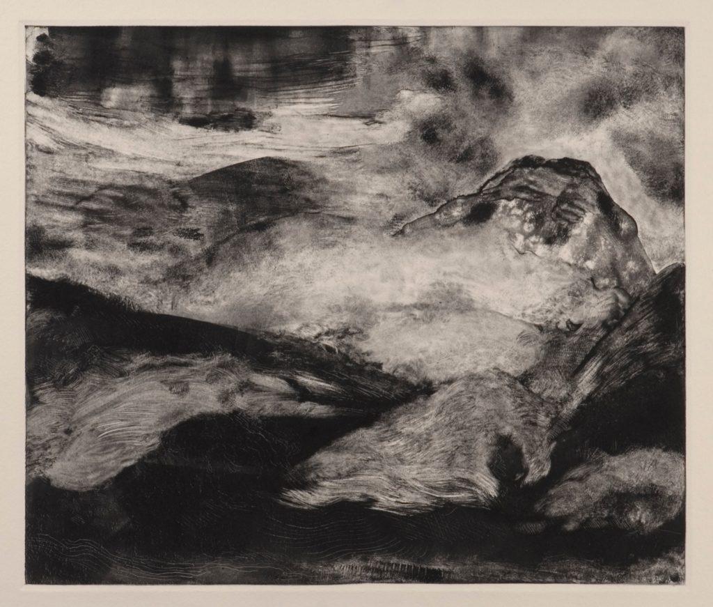 Monotypes - Bajo el volcán by Jorge Martínez García